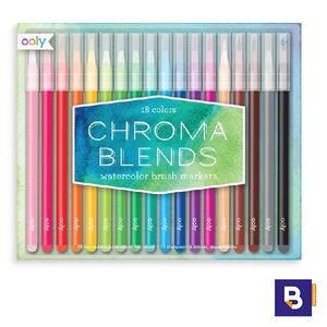SET 18 ROTULADORES ACUARELABLES OOLY PUNTA PINCEL CHROMA BLENDS WATERCOLOR BRUSH