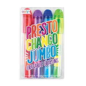 SET 4 CERAS BORRABLES OOLY PRESTO CHANGO JUMBO 133-088