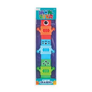 SET 3 GOMAS DE BORRAR OOLY MONSTER MONSTRUOS 112 084
