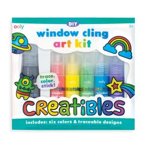 KIT 6 PINTURAS OOLY CREA COLOREA Y PEGA EN LA VENTANA WINDOW BLING ART KIT CREATIBLES DIY 161-033