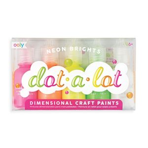 SET 5 PINTURAS OOLY EN RELIEVE EFECTO 3D PARA MANUALIDADES CREATIVAS DOT A LOT NEON 170-002