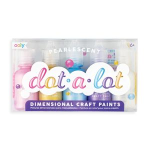SET 5 PINTURAS OOLY EN RELIEVE EFECTO 3D PARA MANUALIDADES CREATIVAS DOT A LOT NACARADAS METALIZADAS 170-003