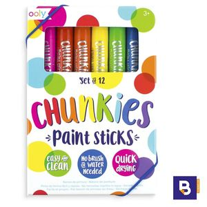 SET 12 CERAS CHUNKIES OOLY EN STICK PAINT STICKS 12 COLORES 126-004