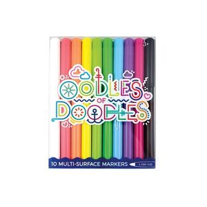 SET 10 ROTULADORES 4MM PARA MULTIPLES SUPERFICIES OODLES OF DOODLES OOLY 130-038 PARA CRISTAL ESPEJO MADERA PIZARRA