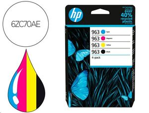 CARTUCHO INK-JET HP 963 PACK 4 COLORES