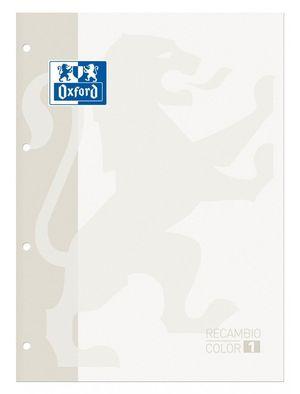 BLOC DE RECAMBIO OXFORD CUADRICULADO A4 80H 90 GRS COLOR 1 BLANCO