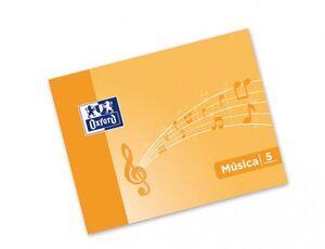 BLOC MUSICA OXFORD 4º APAISADO GRAPADO 5 PENTAGRAMAS 5MM