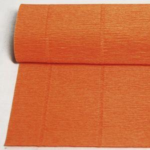 PAPEL CRESPON CREPE PLIEGO DE 0,5 X 2,5 M. NARANJA CLEMENTINA