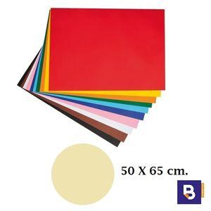 CARTULINA 50 X 65 CM CREMA CANSON