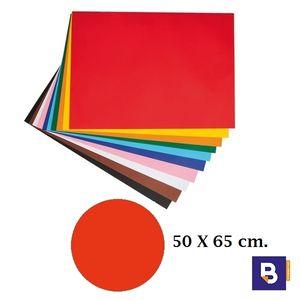 CARTULINA 50 X 65 CM ROJO TOMATE CANSON