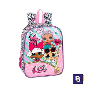 MOCHILA PEQUEÑA 27CM SAFTA ADAPTABLE A CARRO LOL SURPRISE 611920232