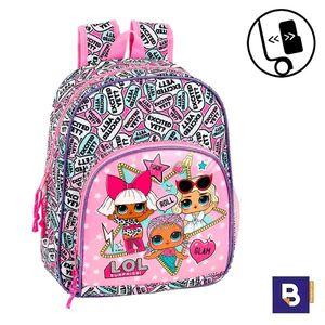 MOCHILA PEQUEÑA 34CM SAFTA ADAPTABLE A CARRO LOL SURPRISE 611920609