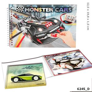 MINI CUADERNO COLOREAR CREATE YOUR MONSTER CARS DEPESCHE 6245