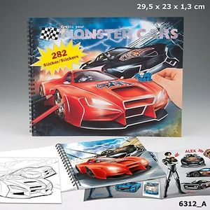 CUADERNO COLOREAR CREATE YOUR MONSTER CARS DEPESCHE 6312