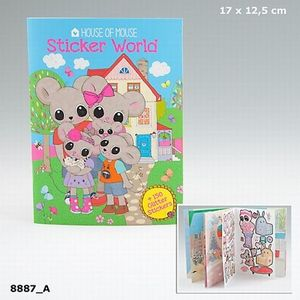 CUADERNO STICKER WORLD HOUSE OF MOUSE DEPESCHE 8887