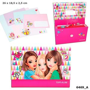 CARPETA CON CARTAS Y SOBRES ROSA TOP MODEL DEPESCHE 6469