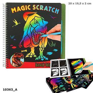 CUADERNO PARA RASCAR DINO WORLD MAGIC SCRATCH DINOSAURIOS DEPESCHE 10363