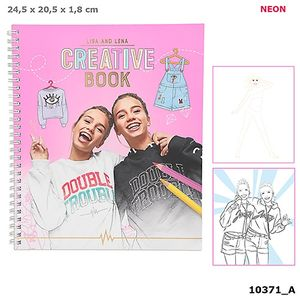 CUADERNO CREATIVO CREATIVE BOOK TOP MODEL LISA AND LENA COLLECTION J1MO71 PARA DISEÑAR ROPA DEPESCHE 10371