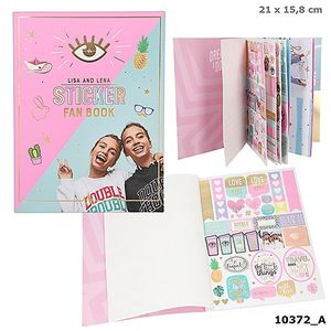 CUADERNO PEGATINAS Y POSTALES STICKER FAN BOOK TOP MODEL LISA AND LENA COLLECTION J1MO71 DEPESCHE 10372