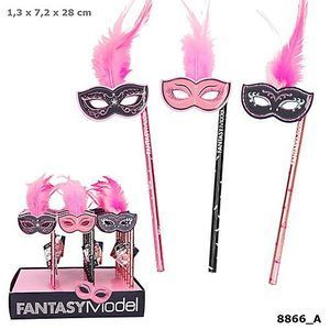 LAPIZ CON MASCARA Y PLUMAS FANTASY TOP MODEL DEPESCHE 8866