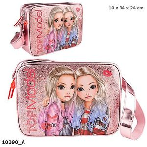 BOLSO BANDOLERA FRIENDS TOP MODEL ROSA PURPURINA DEPESCHE 10390