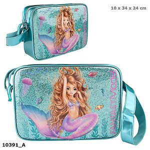 BOLSO BANDOLERA TOP MODEL MERMAID DEPESCHE SIRENA 10391 AZUL PURPURINA SIRENITA