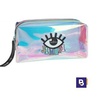 NECESER TRANSPARENTE AZUL BEAUTY BAG TOP MODEL LISA AND LENA COLLECTION J1MO71 DEPESCHE 10320