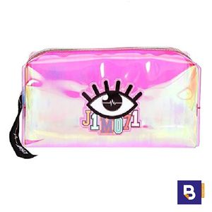NECESER TRANSPARENTE ROSA BEAUTY BAG TOP MODEL LISA AND LENA COLLECTION J1MO71 DEPESCHE 10321