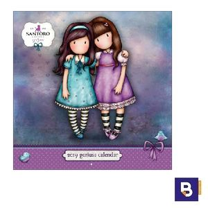 CALENDARIO DE PARED 2019 EN INGLES GORJUSS FRIENDS WALK TOGETHER SANTORO CAWA138