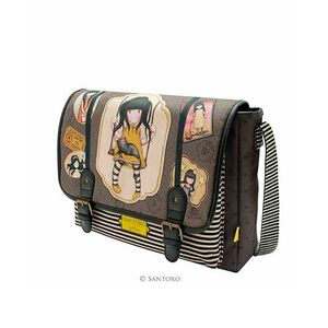 BANDOLERA SATCHEL GORJUSS SANTORO RUBY YELLOW 561GJ05