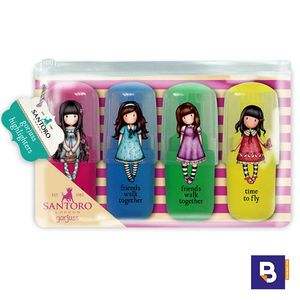 SET 4 MINI MARCADORES FLUORESCENTES GORJUSS ROTULADORES SUBRAYADORES SANTORO LONDON 691GJ02