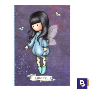 MINI CARPETA PEQUEÑA DE CLIP CON BOLIGRAFO TACO DE NOTAS Y STICKERS GORJUSS BUBBLE FAIRY HADA SANTORO LONDON 702GJ04