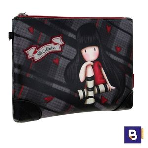 PORTATODO ESTUCHE CLUTCH NECESER GORJUSS TARTAN THE COLLECTOR SANTORO 849GJ01