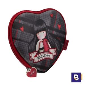 PORTATODO ESTUCHE CORAZON GORJUSS TARTAN THE COLLECTOR SANTORO 847GJ01