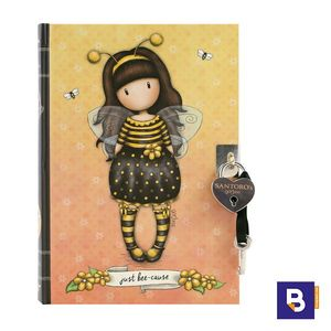 DIARIO CON CANDADO GORJUSS BEE LOVED JUST BEE CAUSE ABEJA SANTORO LONDON 815GJ03
