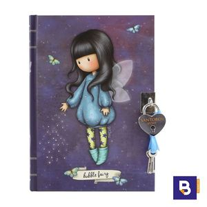 DIARIO CON CANDADO GORJUSS BUBBLE FAIRY HADA SANTORO LONDON 815GJ04