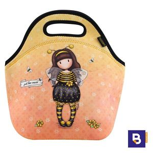 BOLSA TERMICA MERIENDA BOLSO NEOPRENO GORJUSS BEE LOVED JUST BEE CAUSE ABEJA SANTORO LONDON 519GJ10