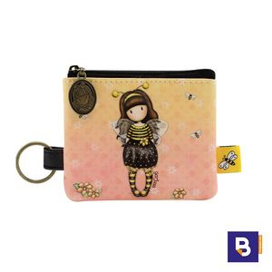 MONEDERO PLANO CON LLAVERO GORJUSS BEE LOVED JUST BEE CAUSE ABEJA SANTORO LONDON 899GJ01