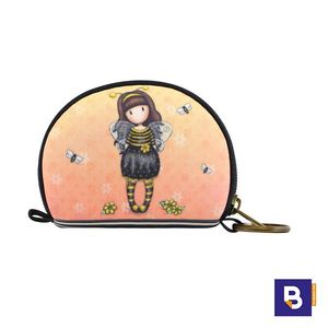 MINI MONEDERO PEQUEÑO GORJUSS CON LLAVERO BEE LOVED JUST BEE CAUSE ABEJA SANTORO LONDON 369GJ25