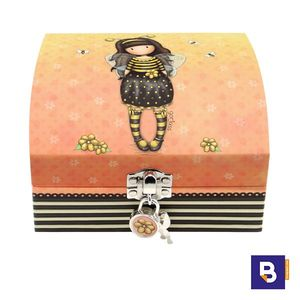 JOYERO CON ORGANIZADOR Y CANDADO GORJUSS BEE LOVED JUST BEE CAUSE ABEJA SANTORO LONDON 701GJ05