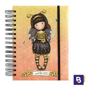 CUADERNO ORGANIZADOR LIBRETA ARCHIVADORA GORJUSS BEE LOVED JUST BEE CAUSE ABEJA SANTORO LONDON 201GJ08