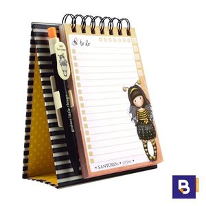 BLOC CUADERNO TACO DE NOTAS SOBREMESA CON BOLIGRAFO GORJUSS BE LOVED JUST BEE CAUSE SANTORO LONDON 823GJ03