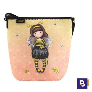 BOLSO PEQUEÑO NEOPRENO BANDOLERA BOLSITO GORJUSS BEE LOVED JUST BEE CAUSE SANTORO LONDON 885GJ01