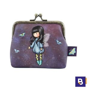 MONEDERO CON CIERRE DE BROCHE METALICO GORJUSS BUBBLE FAIRY HADA SANTORO LONDON 244GJ21