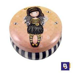 CAJITA METALICA CAJA PEQUEÑA DE LATA GORJUSS BEE LOVED JUST BEE CAUSE ABEJA SANTORO LONDON 242JB
