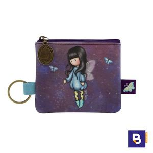 MONEDERO PLANO CON LLAVERO GORJUSS BUBBLE FAIRY HADA SANTORO LONDON 899GJ03
