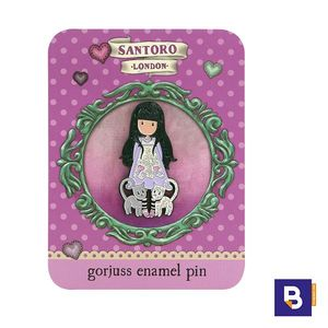 PIN ESMALTADO BROCHE GORJUSS TALL TAILS GATITOS SANTORO LONDON 532GJ05