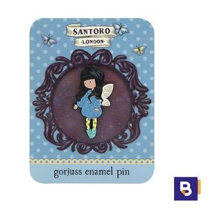 PIN ESMALTADO BROCHE GORJUSS BUBBLE FAIRY HADA SANTORO LONDON 532GJ06