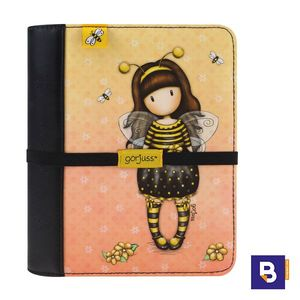DIARIO DE VIAJE AGENDA GORJUSS BEE LOVED JUST BEE CAUSE ABEJA SANTORO LONDON 256GJ03