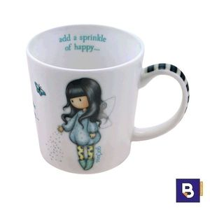 TAZA PEQUEÑA GORJUSS BUBBLE FAIRY SANTORO LONDON 82.036.62567.0 ADD A SPRINKLE OF HAPPY 932GJ02